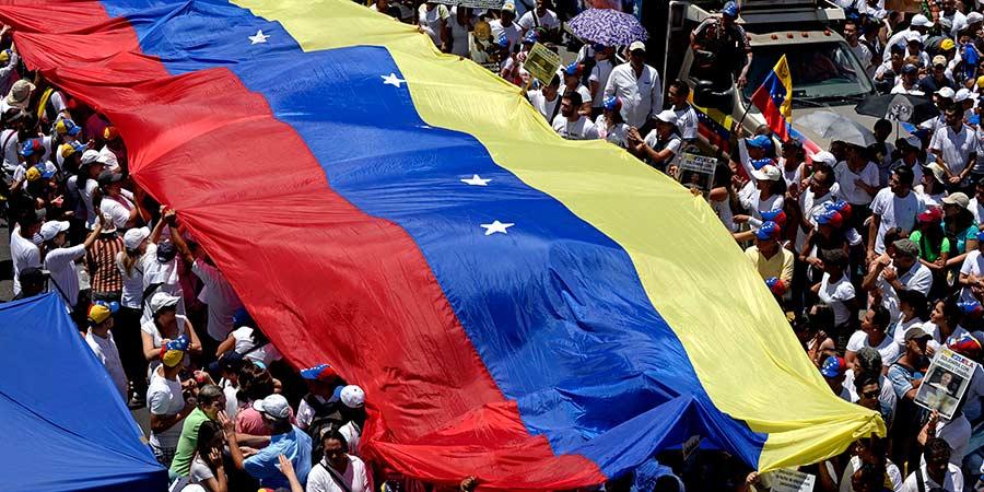 Pueblo di Venezuela durante protesta